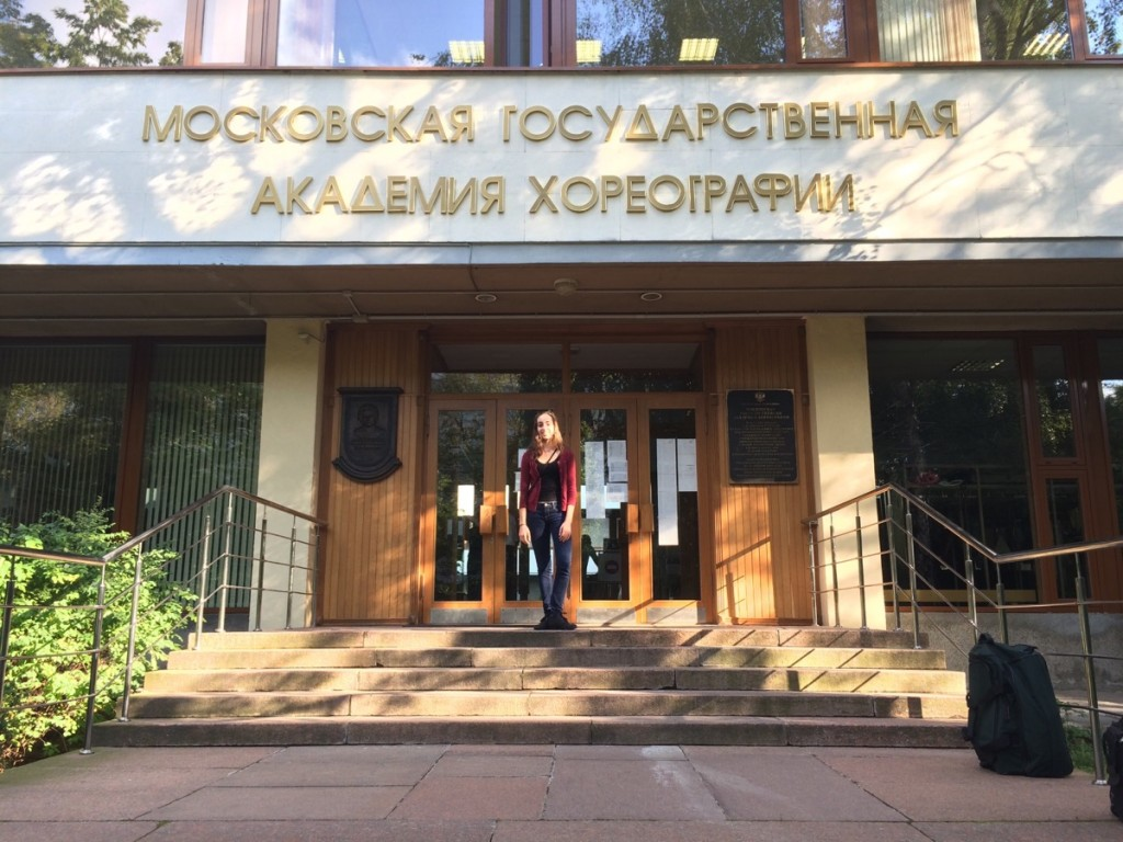 Lauren arrived to Bolshoi Ballet Academy